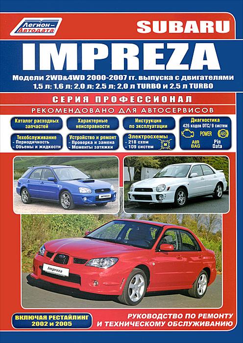 Subaru Impreza. Руководство по ремонту и техническому обслуживанию антискрип материалы для автомобиля в калининграде