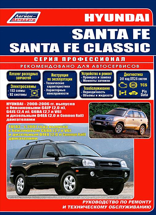 Hyundai Santa Fe/Santa Fe Classic. Руководство по ремонту и техническому обслуживанию чемодан тележка santa fe 73 л 3177 24 бордо