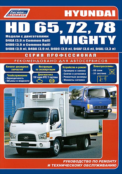 Hyundai HD 65, 72, 78 / Mighty. Модели с двигателями D4DD (3,9 л Common Rail), D4GA (3,9 л Common Rail), D4DB (3,9 л), D4DA (3,9 л), D4DC (3,9 л), D4AF (3,6 л), D4AL (3,3 л). Руководство по ремонту и техническому обслуживанию