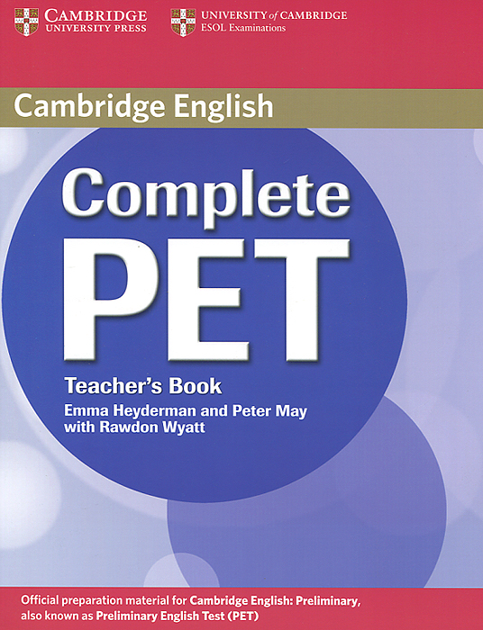 Complete PET: Teacher's Book cambridge english complete advanced student s book without answers cd rom