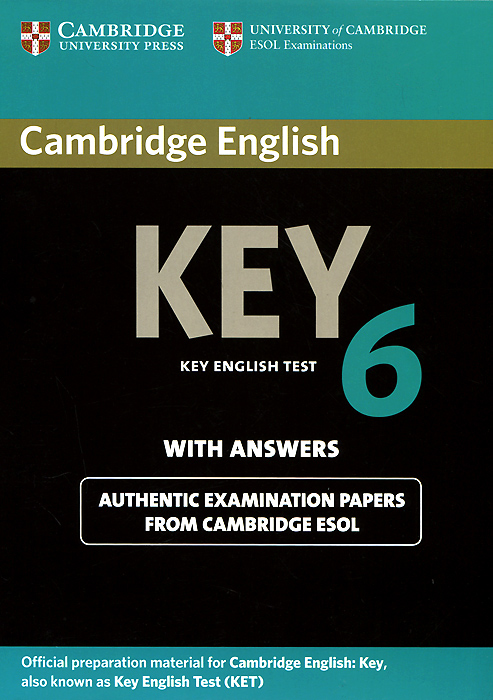 Cambridge English Key 6: Student's Book with Answers english with crosswords 3 dvdrom