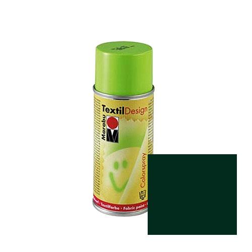 Краска-аэрозоль для ткани Marabu Textil Design, цвет: темно-зеленый (075), 150 мл краска спрей для текстиля marabu fashion spray цвет cocoa коричневый 295 100 мл