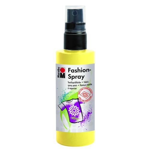 Краска-спрей для текстиля Marabu Fashion Spray, цвет: lemon / лимон (020), 100 мл546630_020Краска-спрей для текстиля Marabu Fashion Spray, изготовлена на водной основе, подходит для светлой, очищенной от аппретуры и смягчителя ткани, а также для натуральных тканей, вискозы, смешанных тканей с содержанием синтетических волокон до 20%. Закрепляется краска-спрей с помощью утюга. С краской для текстиля Marabu Fashion Spray вы сможете оригинально и красиво украсить любой текстиль. Время высыхания 6 часов. Рекомендуется стирать и гладить с изнаночной стороны.