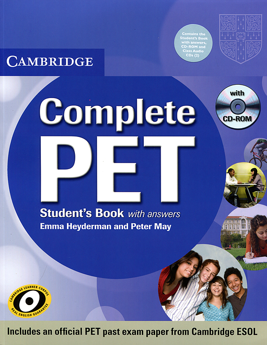 Complete PET: Student's Book with Answers (+ аудиокурс на 3 CD-ROM) cambridge grammar for pet book with answers 2 cd