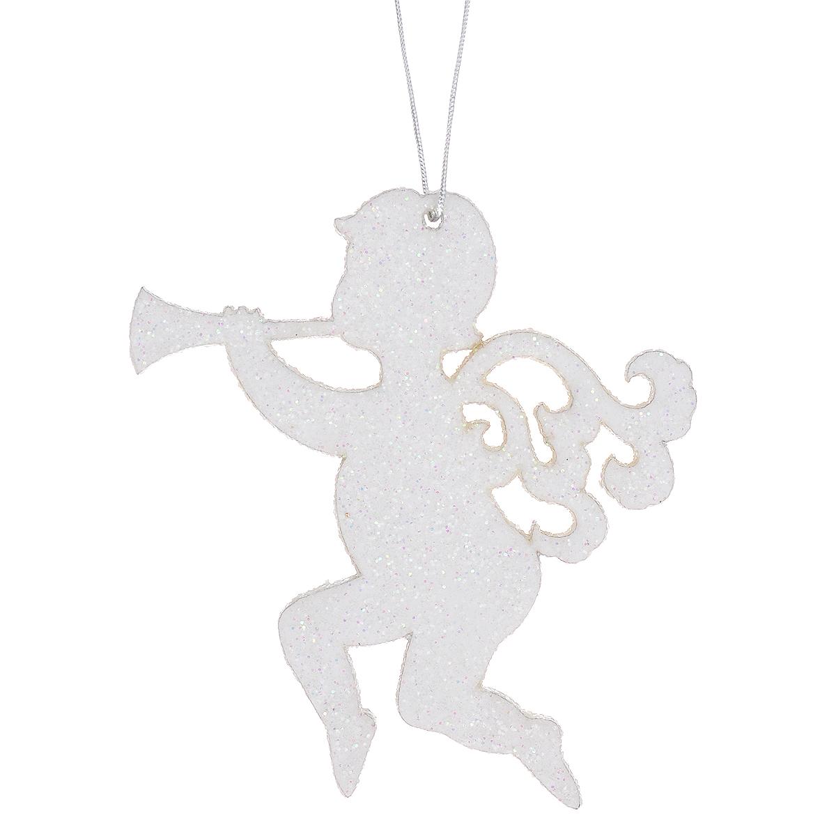 Новогоднее подвесное украшение Ангел с дудочкой, цвет: белый. 3530735307Оригинальное новогоднее украшение в виде ангела прекрасно подойдет для праздничного декора дома и новогодней ели. С помощью специальной петельки его можно повесить в любом понравившемся вам месте. Но, конечно, удачнее всего такая игрушка будет смотреться на праздничной елке. Елочная игрушка - символ Нового года и Рождества. Она несет в себе волшебство и красоту праздника. Создайте в своем доме атмосферу веселья и радости, украшая новогоднюю елку нарядными игрушками, которые будут из года в год накапливать теплоту воспоминаний.