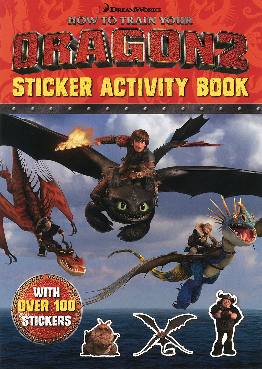 How to Train Your Dragon 2: Sticker Activity Book how to train your dragon 2 dragon toothless night fury action figure pvc doll 4 styles 25 37cm free shipping retail