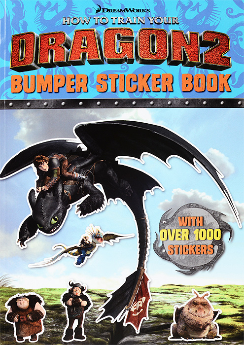 How to Train Your Dragon 2: Bumper Sticker Book how to train your dragon 2 dragon toothless night fury action figure pvc doll 4 styles 25 37cm free shipping retail
