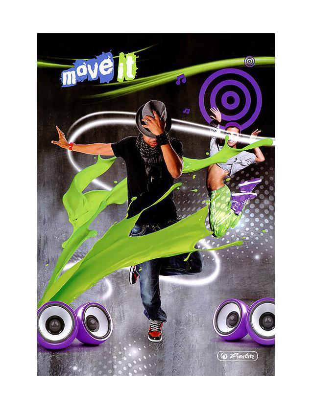 Блокнот Herlitz Move It Move it Green herlitz книжка записная move it а5 96л кл роз