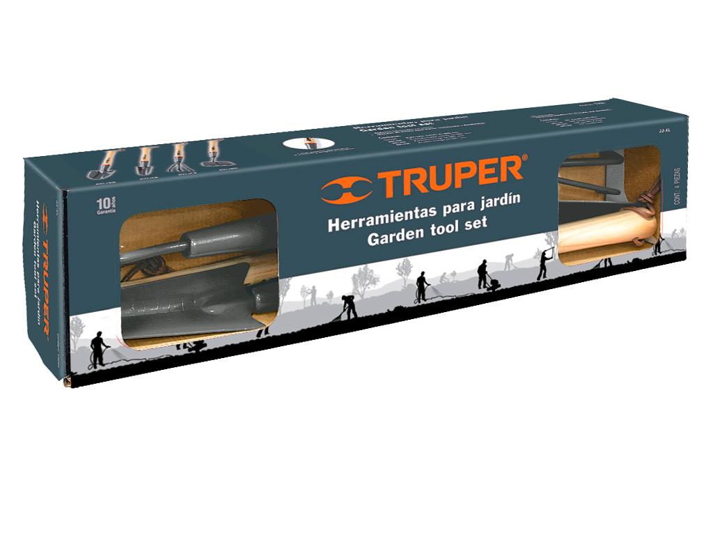 Набор садового инструмента Truper, длинный, 4 предмета ящик для инструментов truper т 15320