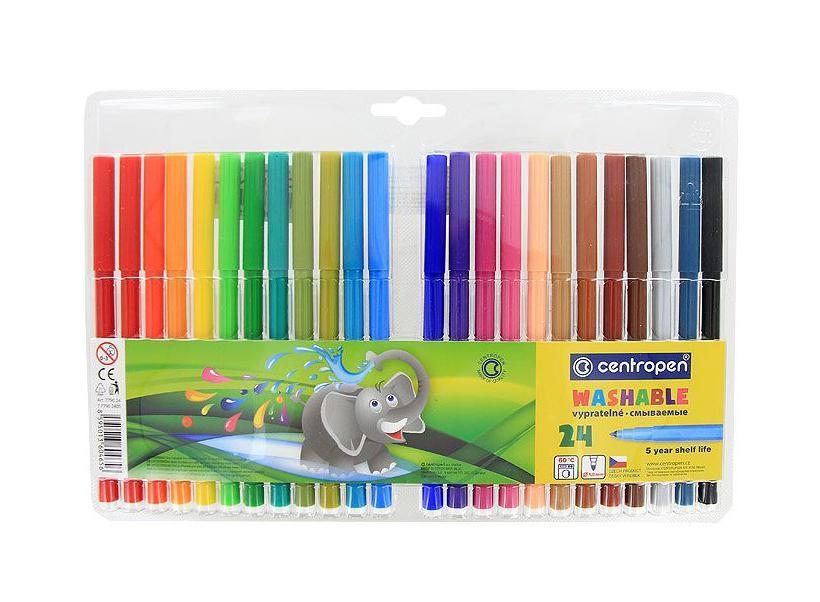 Centropen Набор фломастеров Слон 24 цвета -  Фломастеры