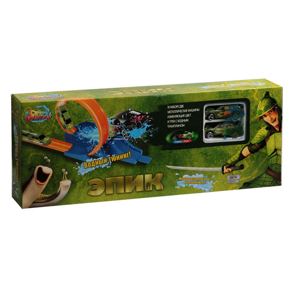 Autotime Игровой набор Color Twisters: Эпик, с треком набор для сборки машинки s2 muscle car deluxe modarri