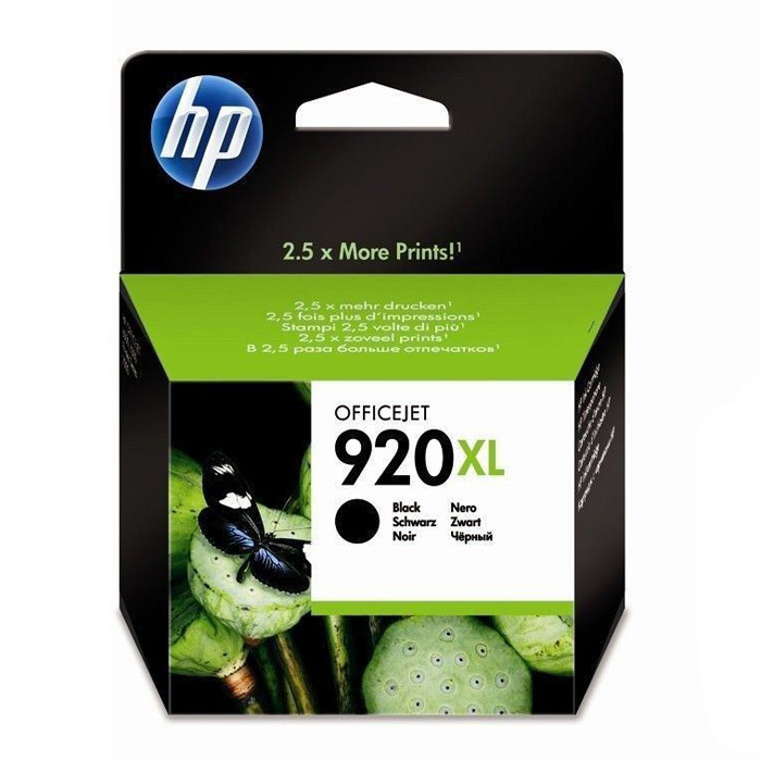 HP CD975AE (920XL), Black струйный картридж для Officejet 6000/6500/6500A/7000/7500A lcl 920xl 10 pack ink cartridge compatible for hp officejet 6000 6500 6500 wireless 6500a 7000 7500 7500a