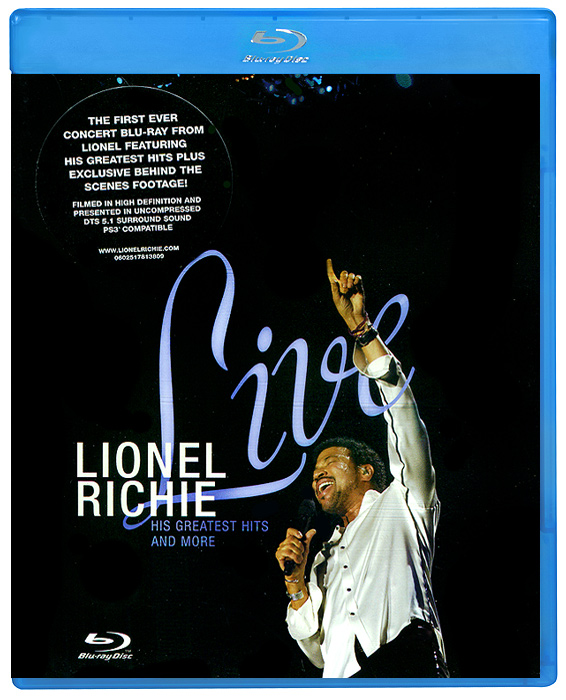 Richie Lionel: Live (Blu-ray) roxette live travelling the world blu ray cd
