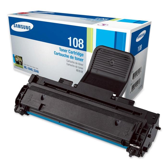Samsung MLT-D108S картридж черный для Samsung ML-1640, ML-1641, ML-2240MLT-D108SТонер-картридж черного цвета Samsung MLT-D108S для лазерных принтеров Samsung.