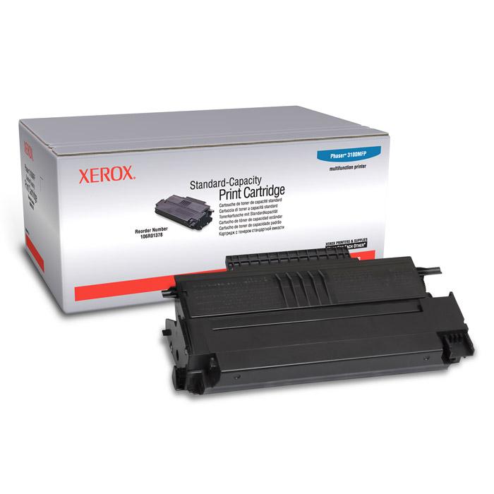 Xerox 106R01378, Black тонер-картридж106R01378Тонер-картридж Xerox 106R01378 для лазерного принтера Xerox Phaser 3100MFP.