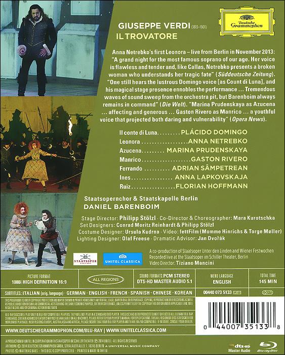 Verdi:  Il trovatore (Blu-ray) Universal Music Company