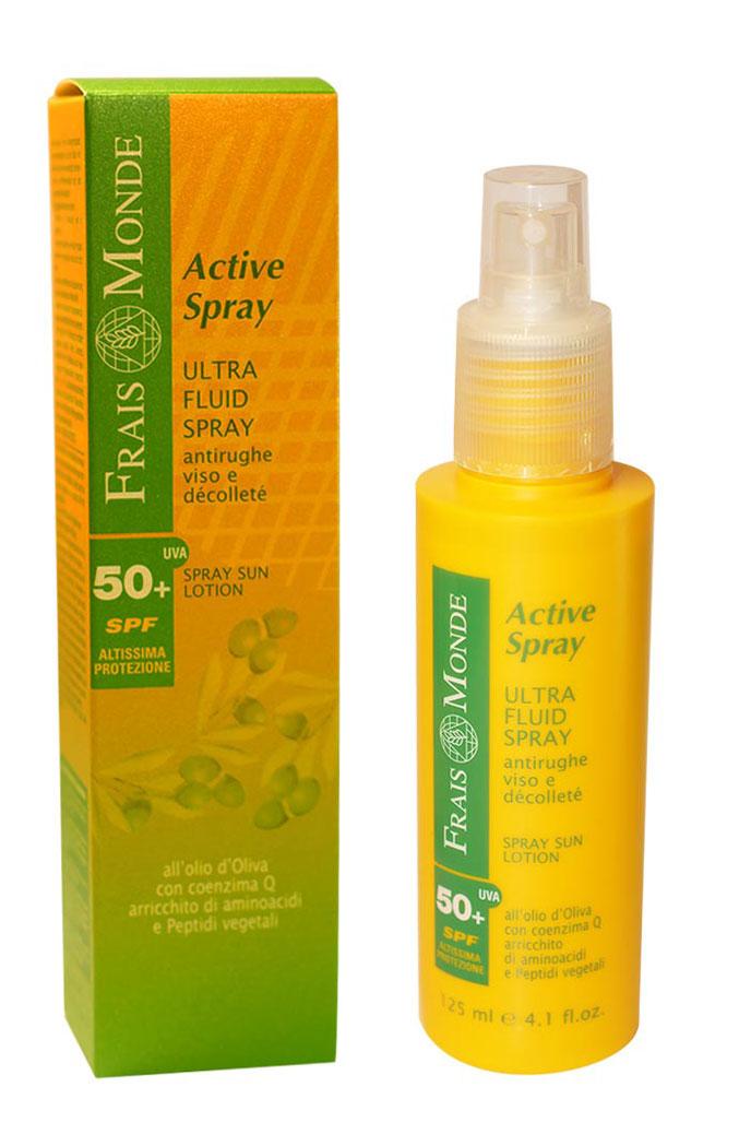 Frais Monde Ультралегкая эмульсия-спрей для лица и зоны декольте, предотвращающая старение кожи, для чувствительной кожи, SPF 50+, 125 млFS035NУльтралегкая эмульсия-спрей для лица- абсолютно новый, натуральный солнцезащитный продукт на основе масла оливы. Легкий, удобный в применении, может сопровождать Вас на любой прогулке. Спрей прекрасно впитывается и не оставляет жирных следов. Благодаря коэнзиму Q10 и витамину Е, спрей борется со свободными радикалами, которые вызывают старение кожи, многократно повышает устойчивость кожи к действию агрессивной среды (в том числе солнечным лучам). Масло оливы глубоко увлажняет, аминокислоты предотвращают появление морщин, пептиды способствуют ускорению обменных процессов и оказывают быстрый восстанавливающий эффект на клетки кожи. Комбинация фильтров UVA+UVB гарантирует полную защиту от неблагоприятного воздействия солнца и продлевает загар. Использование спрея для лица поможет предотвратить повреждение упругих волокон кожи и минимизировать эффект старения, вызванный солнечными лучами Характеристики:Объем: 125 мл. Фактор защиты: 50+. Производитель: Италия.Итальянская компанияISMEG Srlпоявилась, благодаря принадлежащему ей термальному источнику, богатому серой. Компания придерживается традиции производства высококачественной продукции, ее миссия - обновлять производство, но сохранять естественные неповрежденные формулы. Компанию отличают глубокие исследования в области косметики и страсть к развитию природных ресурсов. Товар сертифицирован.