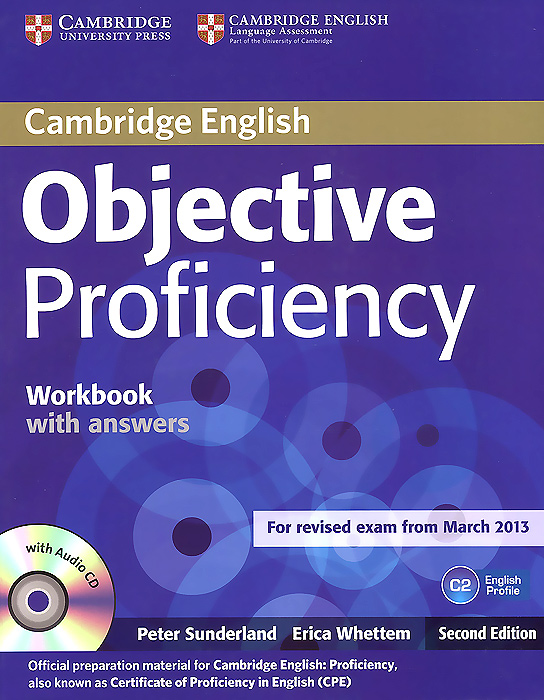 Objective Proficiency Workbook with Answers (+CD) objective first 4 edition workbook without answers сd