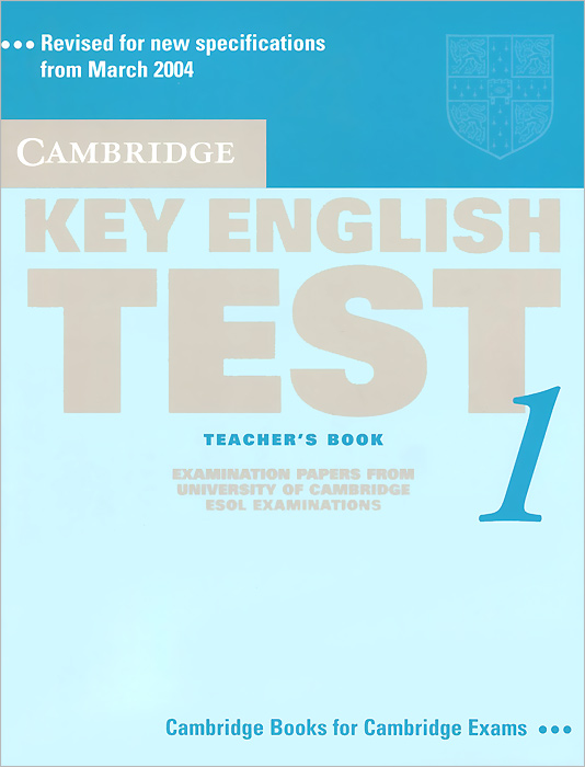 Key English Test 1: Teacher's Book serine poghosyan an examination of the content validity of a high stakes english test