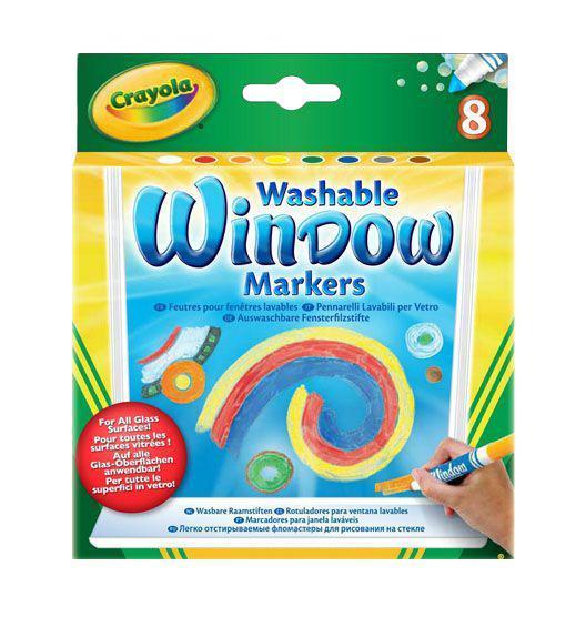 Маркеры для рисования на стекле Crayola, смываемые, 8 шт фломастеры crayola для рисования по стеклу 8 шт