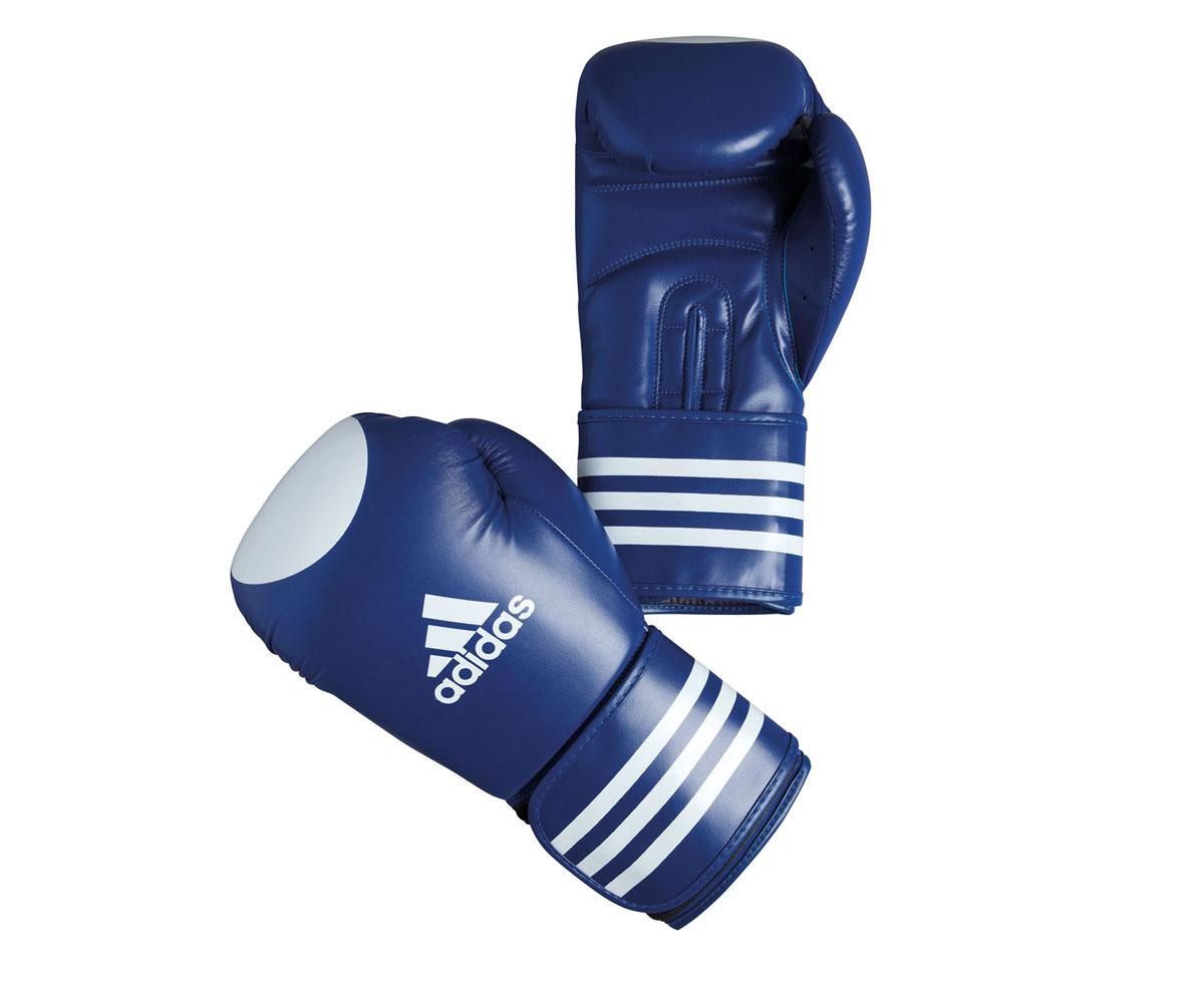 Перчатки для кикбоксинга Adidas Ultima Competition Target Waco, цвет: сине-белый. adiBC021. Вес 12 унцийadiBC021Перчатки для кикбоксинга Adidas Ultima Competition для отработок ударов и комбинаций. Тыльная сторона перчаток выполнена из прочной, износостойкой, натуральной кожи. Внутренний наполнитель, выполненный из формованной под давлением пены с интегрированной внутренней вставкой из геля, выполненной по технологии I-Protech, покрывает тыльную сторону, создавая надежную защиту рук и давая боксеру возможность безопасно тренироваться в полную силу. Внутренняя подкладка, выполненная из дышащего материала, и вентиляционное отверстие на ладони создают комфортный микроклимат внутри перчаток. Эластичный ремешок с фиксацией на липучке позволяет быстро одеть и снять перчатки.