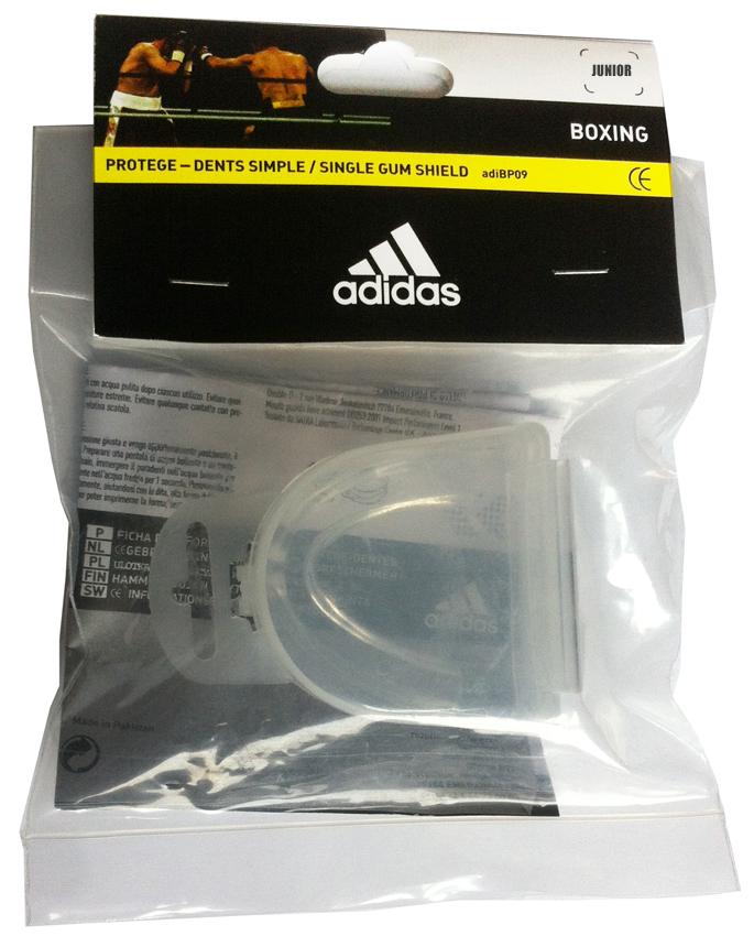Капа одночелюстная Adidas Single Mouth Guard, цвет: прозрачный. Размер JunioradiBP09