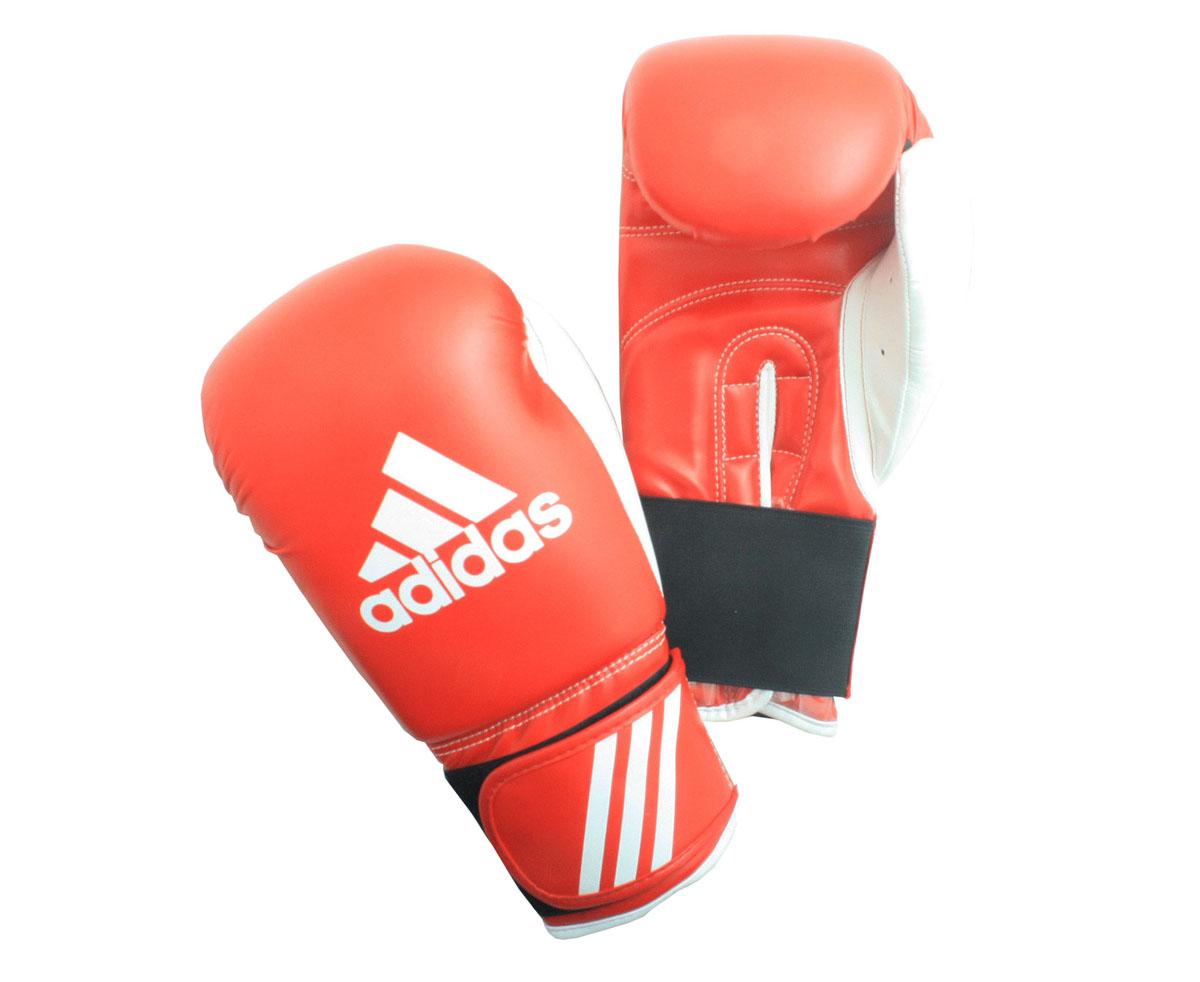 Перчатки боксерские Adidas Response, цвет: красно-белый. adiBT01. Вес 8 унцийadiBT01Тренировочные боксерские перчатки Adidas Response. Сделаны из прочной искусственной кожи (PU3G), удобно сидят на руке. Фиксация на липучке. Внутренний наполнитель из формованной под давлением пены с интегрированной внутренней вставкой из геля, выполненной по технологии I-Protech.