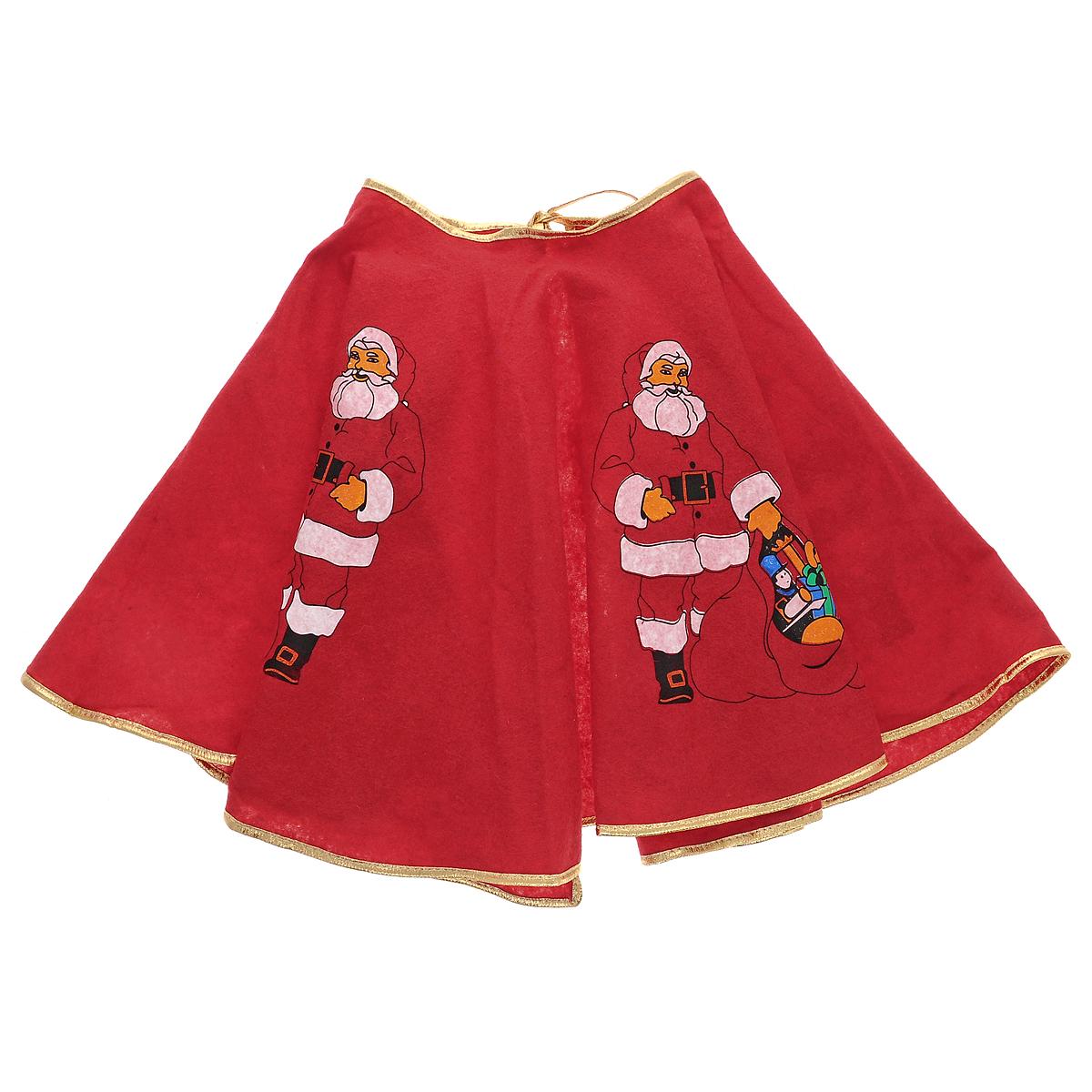Новогоднее украшение для ели Красная юбка, цвет: красный, 90 см35345Оригинальное новогоднее украшение для ели Красная юбка, выполненное из красного фетра, прекрасно подойдет для праздничного декора дома и новогодней ели. С помощью специальных завязок юбку легко прикрепить на праздничную елку.Елочная игрушка - символ Нового года. Она несет в себе волшебство и красоту праздника. Создайте в своем доме атмосферу веселья и радости, украшая новогоднюю елку нарядными игрушками, которые будут из года в год накапливать теплоту воспоминаний. Материал: фетр. Размер: 90 см х 39 см.
