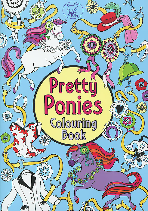 Pretty Ponies: Colouring Book fairy ponies sticker and colouring book