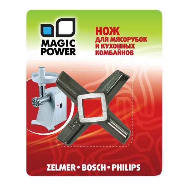 Нож для мясорубок и кухонных комбайнов Magic Power. MP-608MP-608Нож Magic Power изготовлен из высококачественной нержавеющей стали. Размер ножа: 4,5 см х 4,5 см.