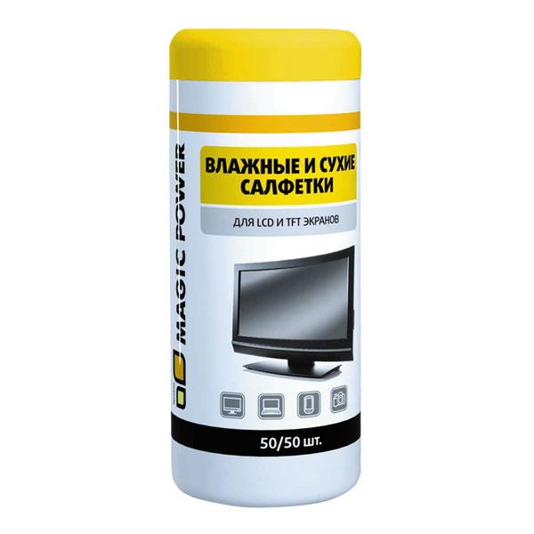 """Специальные чистящие салфетки """"Magic Power Techno"""" предназначены для качественной очистки и ежедневного ухода за LCD, TFT-экранами, плазменными панелями, мониторами компьютеров, ноутбуков, а также за экранами проекционных и ЭЛТ-телевизоров. Быстро и эффективно удаляют различные загрязнения: пыль, жирные разводы, следы от пальцев, никотиновую пленку. Не повреждают поверхность. Снимают статическое электричество. Экономичны в использовании."""