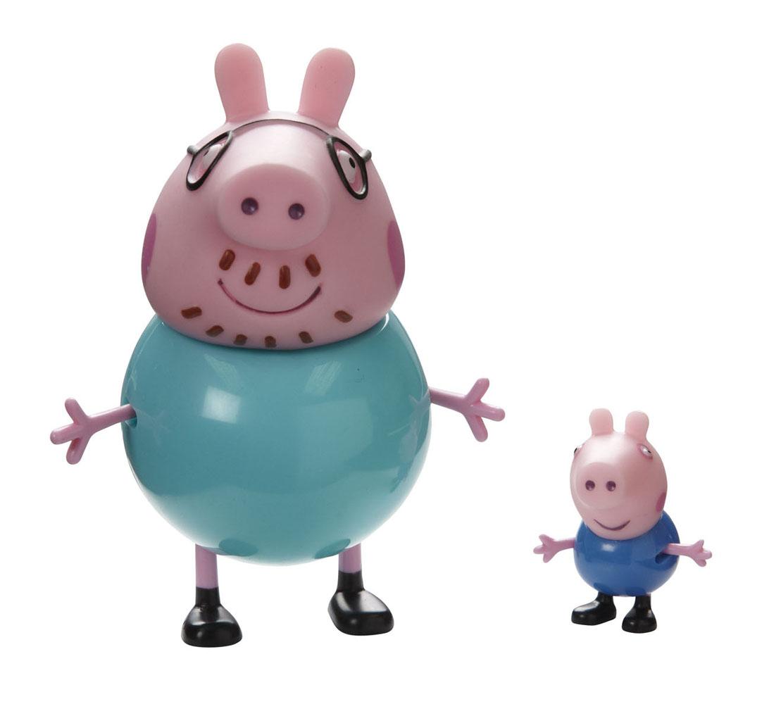 Игровой набор Peppa Pig Семья Пеппы: папа, сын игровой набор peppa pig семья пеппы папа свин и джорж 2 предмета от 3 лет 20837