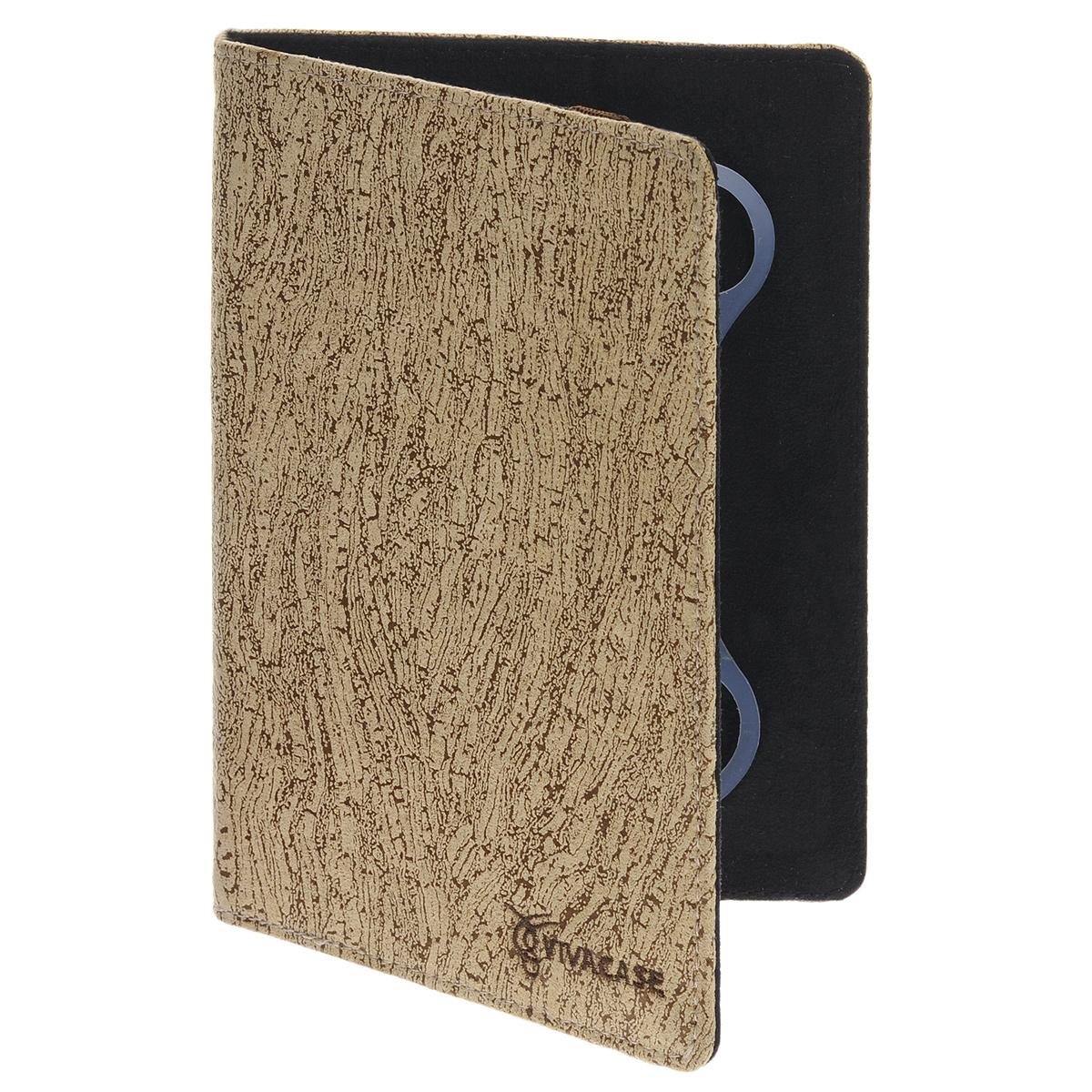 Vivacase Birch универсальный чехол-обложка для планшетов 7+, Coffee Milk (VUC-CBR07P-cm)VUC-CBR07P-cmУниверсальный чехол Vivacase с резиновым креплением, который подходит для любых популярных планшетов и электронных книг с диагональю дисплея в 7+ дюймов. Он изготовлен из ткани, которой обтянут прочный каркас, защищающий устройство во время падений. Внутренняя часть отделана мягкой подкладкой, которая не оставляет никаких следов на корпусе и дисплее.Каркас из тонкой и мягкой резины позволяет прочно и надежно закрепить устройство подходящего размера. Для того чтобы установить устройство в альбомной ориентации, удобной для просмотра видео или чтения, чехол имеет подвижную площадку и два углубления, которые позволяют зафиксировать планшет под двумя разными углами.