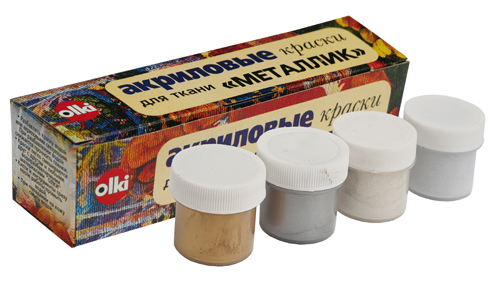 Набор акриловых красок для ткани Olki