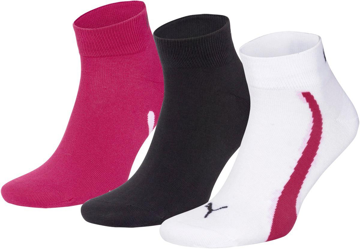 Носки унисекс Puma Lifestyle Quarters, цвет: розовый, белый, серый, 3 пары. 88641302. Размер 35/38 кошельки puma кошелёк rbr lifestyle wallet