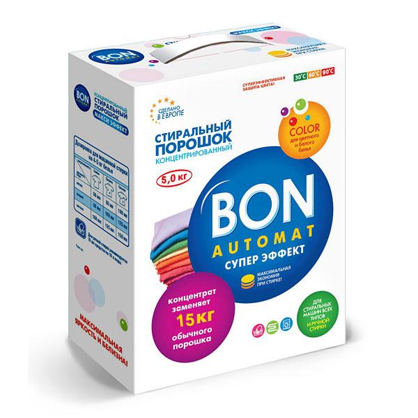 Стиральный порошок Bon Automat Супер Эффект, концентрированный, с поддержкой цвета, 5 кг стиральный порошок зимнее утро пемос 5 5 кг