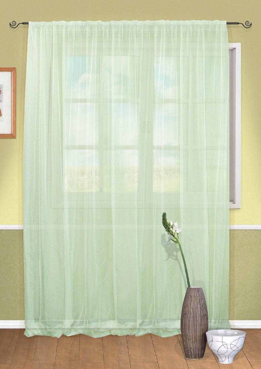 Штора Kauffort Пастель, на ленте, цвет: зеленый, высота 285 см. UN111303180UN111303180Воздушная штора Kauffort Пастель выполнена из полиэстера. Полупрозрачная ткань и приятная, приглушенная гамма привлекут к себе внимание и органично впишутся в интерьер помещения. Эта штора будет долгое время радовать вас и вашу семью! Штора крепится на карниз при помощи ленты, которая поможет красиво и равномерно задрапировать верх.