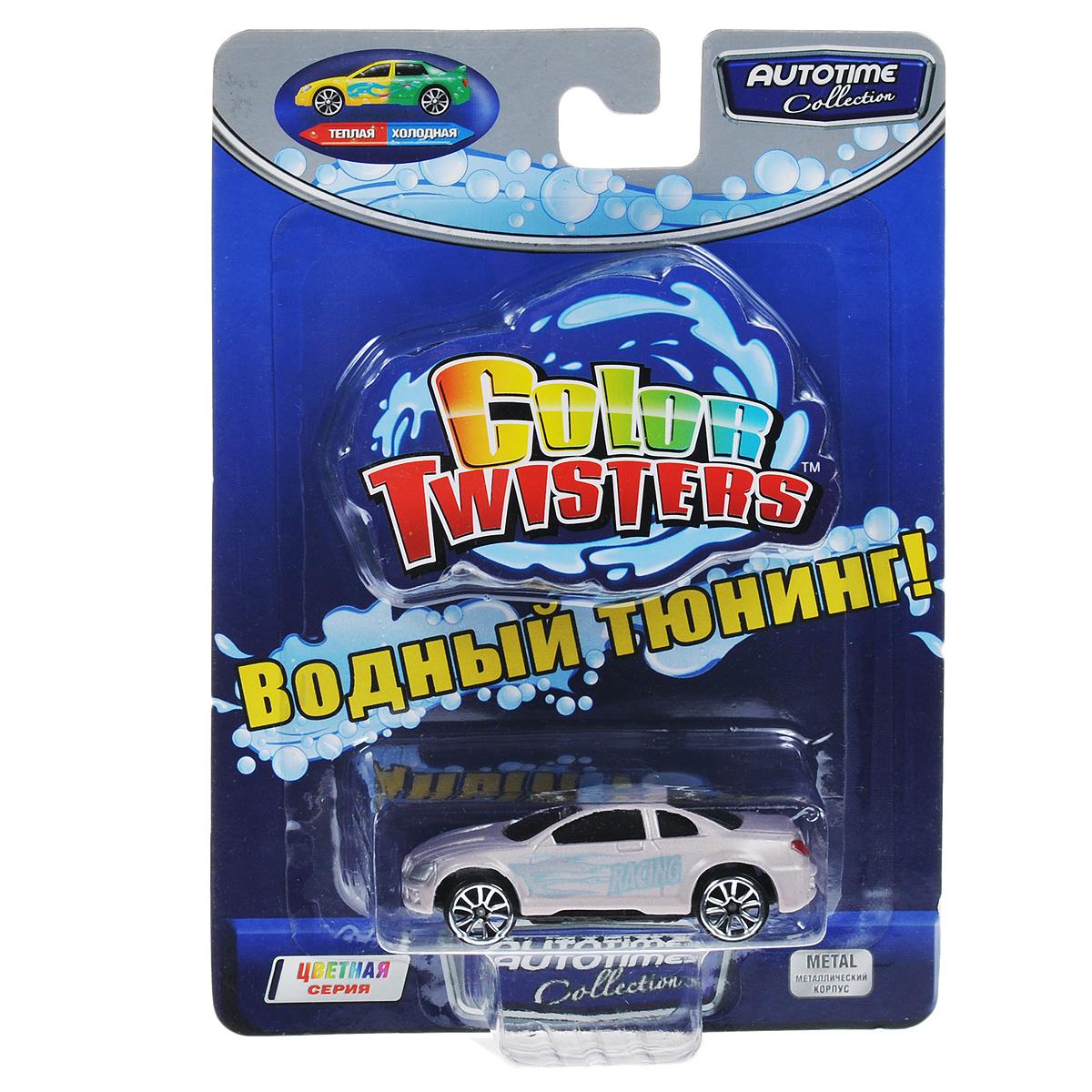 Autotime Машинка Color Twisters, цвет: светло-серый машинки autotime машина uaz 31514 ваи