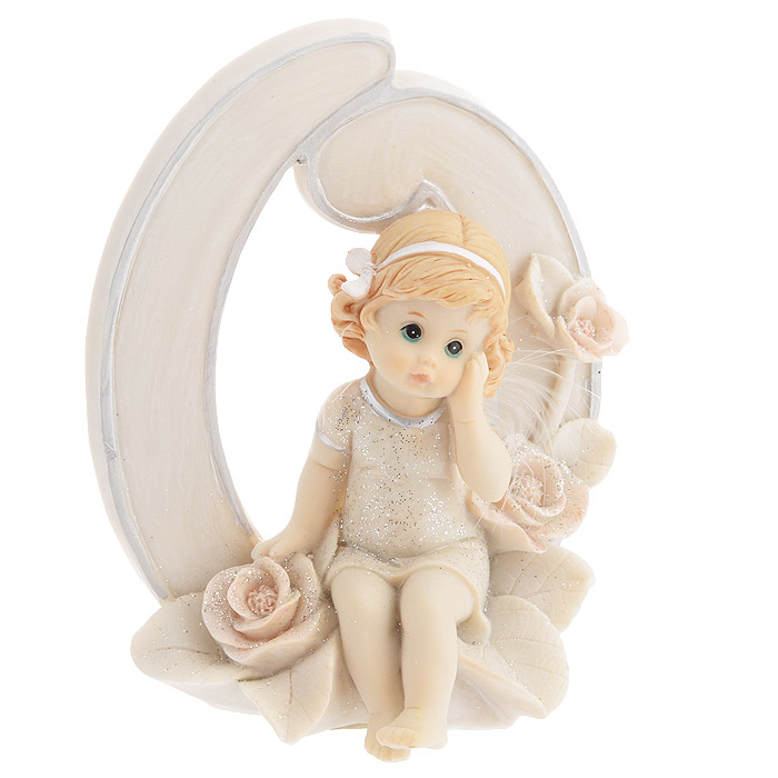 Статуэтка Molento Именинный ангелочек, высота 11 см. 514-953 статуэтки veronese статуэтка индеец с копьем и щитом