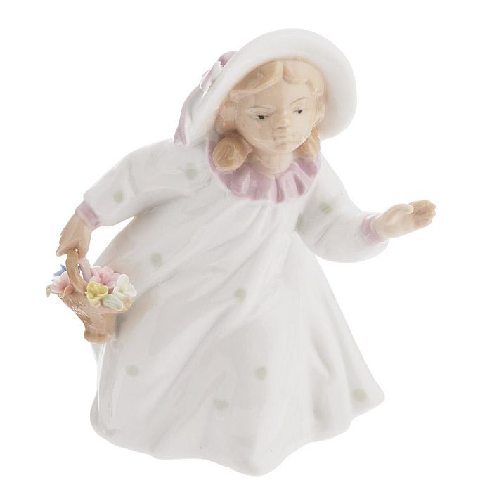 Фигурка декоративная Molento Девочка с корзиной цветов, высота 16 см каталог molento