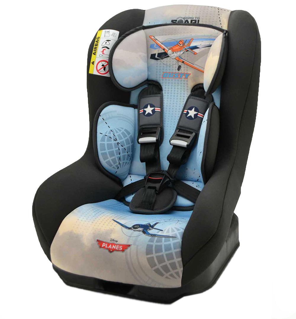 Автокресло Nania Driver гр.0-1 Planes Disney43182Когда вес ребенка достигнет 9-ти кг, кресло следует устанавливать лицом в направлении движения автомобиля, однако только на заднем сиденье. Конструкция авто-кресел этой группы представляет собой пластиковую основу на силовом каркасе. Благодаря тому, что наклон спинки можно регулировать, малыш сможет спокойно спать во время долгих путешествий.