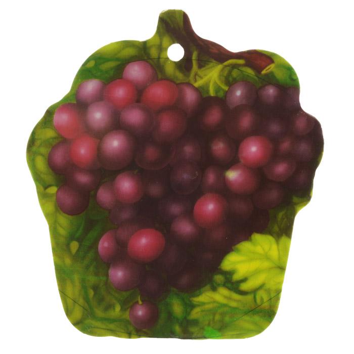 Доска разделочная Виноград, 19 см х 21,5 см. 813-056813-056Разделочная доска Виноград, выполненная из прочного пластика, станет незаменимым атрибутом приготовления пищи. Доска устойчива к повреждениям и не впитывает запахи, идеально подходит для разделки мяса, рыбы, приготовления теста и для нарезки любых продуктов.