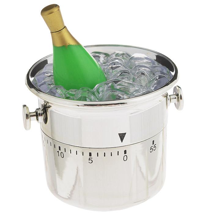 Таймер кухонный Ведерко с шампанским, на 60 минут820-006Кухонный таймер Ведерко с шампанским изготовлен из цветного пластика. Таймер выполнен ввидеведерка с шампанским. Максимальное время, на которое вы можете поставить таймер,составляет 60 минут.После того, как время истечет, таймер громко зазвенит.Оригинальный дизайн таймера украсит интерьер любой современной кухни, и теперь вы сможетебез трудавскипятить молоко, отварить пельмени или вовремя вынуть из духовки аппетитный пирог.