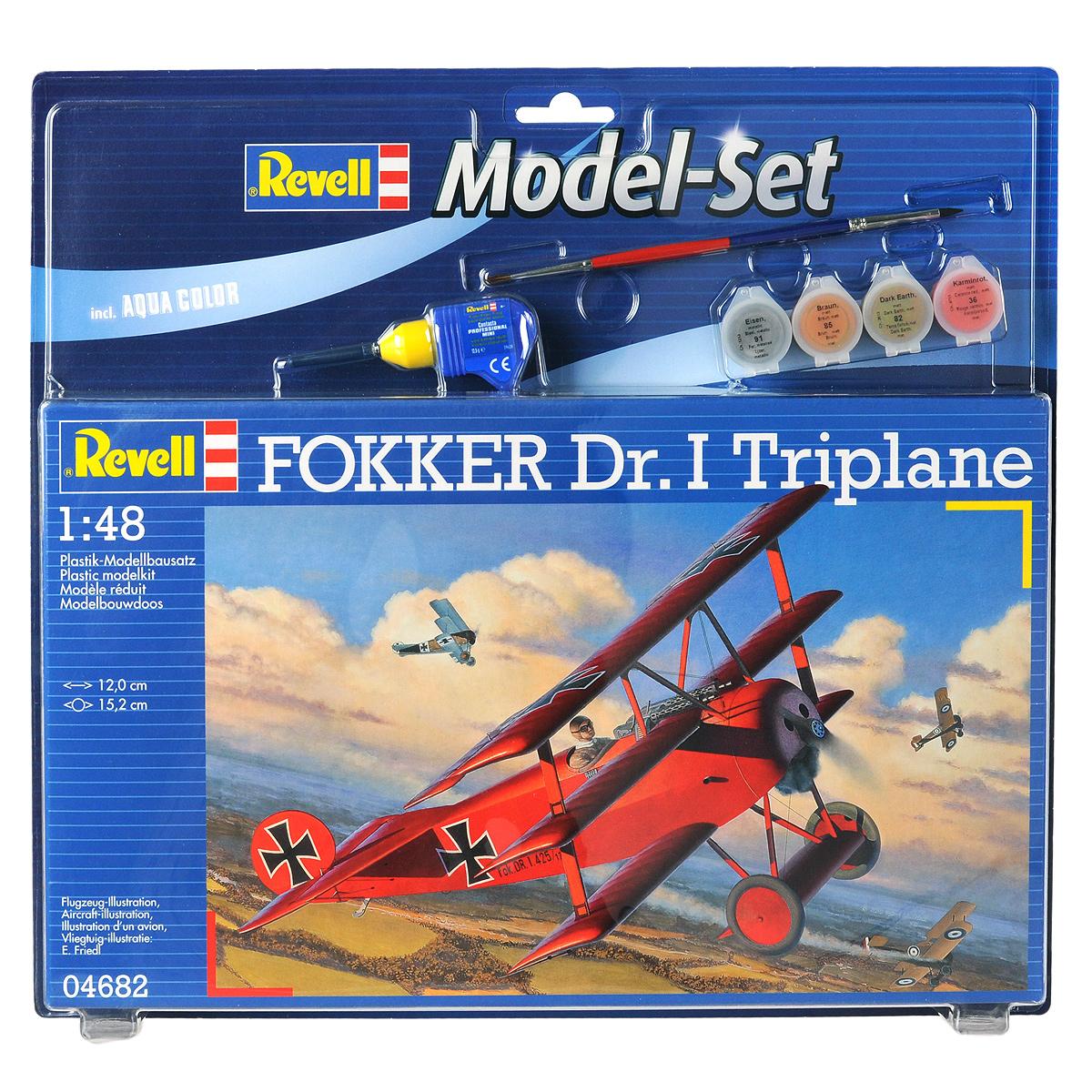 Revell Набор для сборки и раскрашивания Самолет-истребитель Fokker Dr. I Triplane
