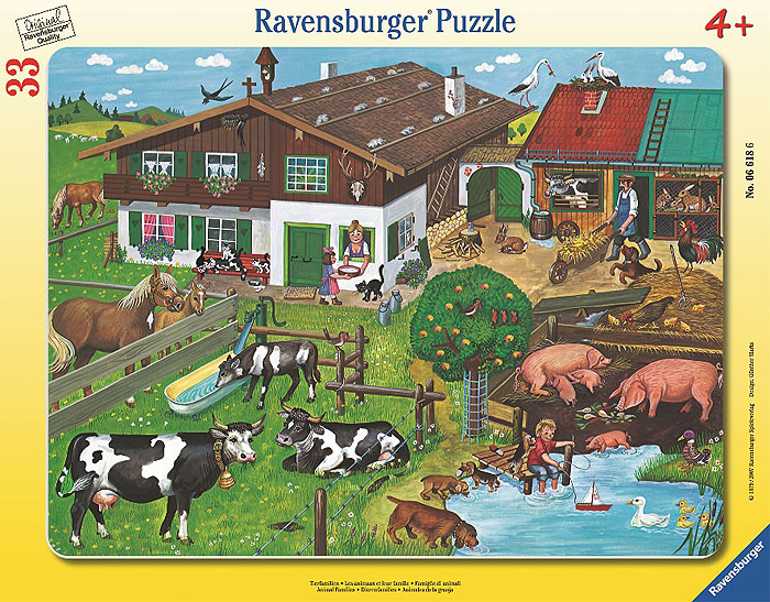 Ravensburger Пазл Животные на ферме ravensburger историческая карта пазл 5000 элементов