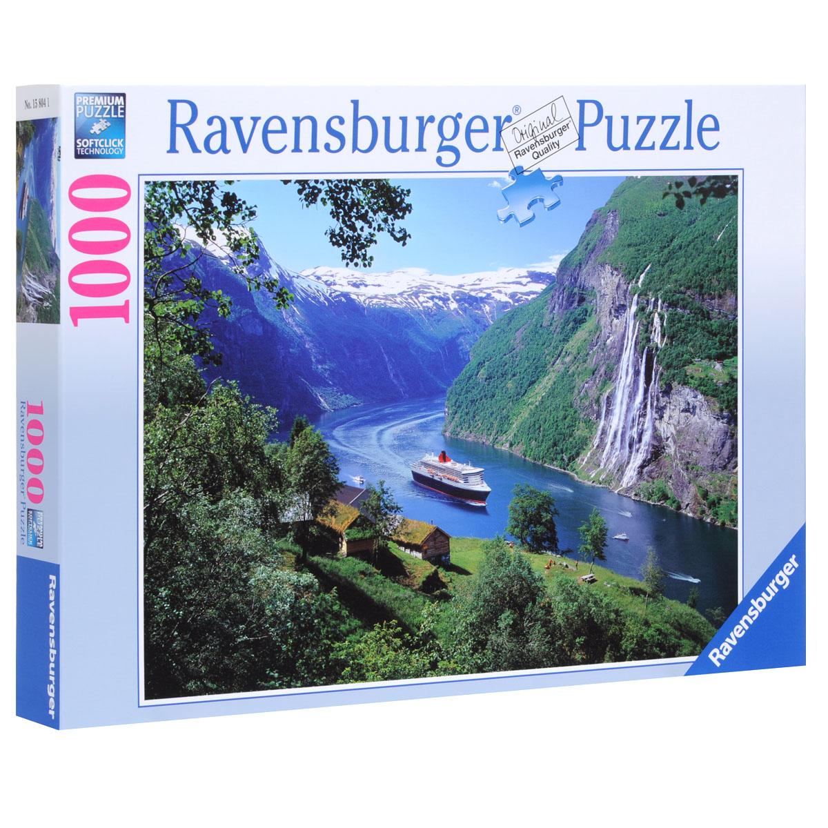 Ravensburger Норвежский фьорд. Пазл, 1000 элементов
