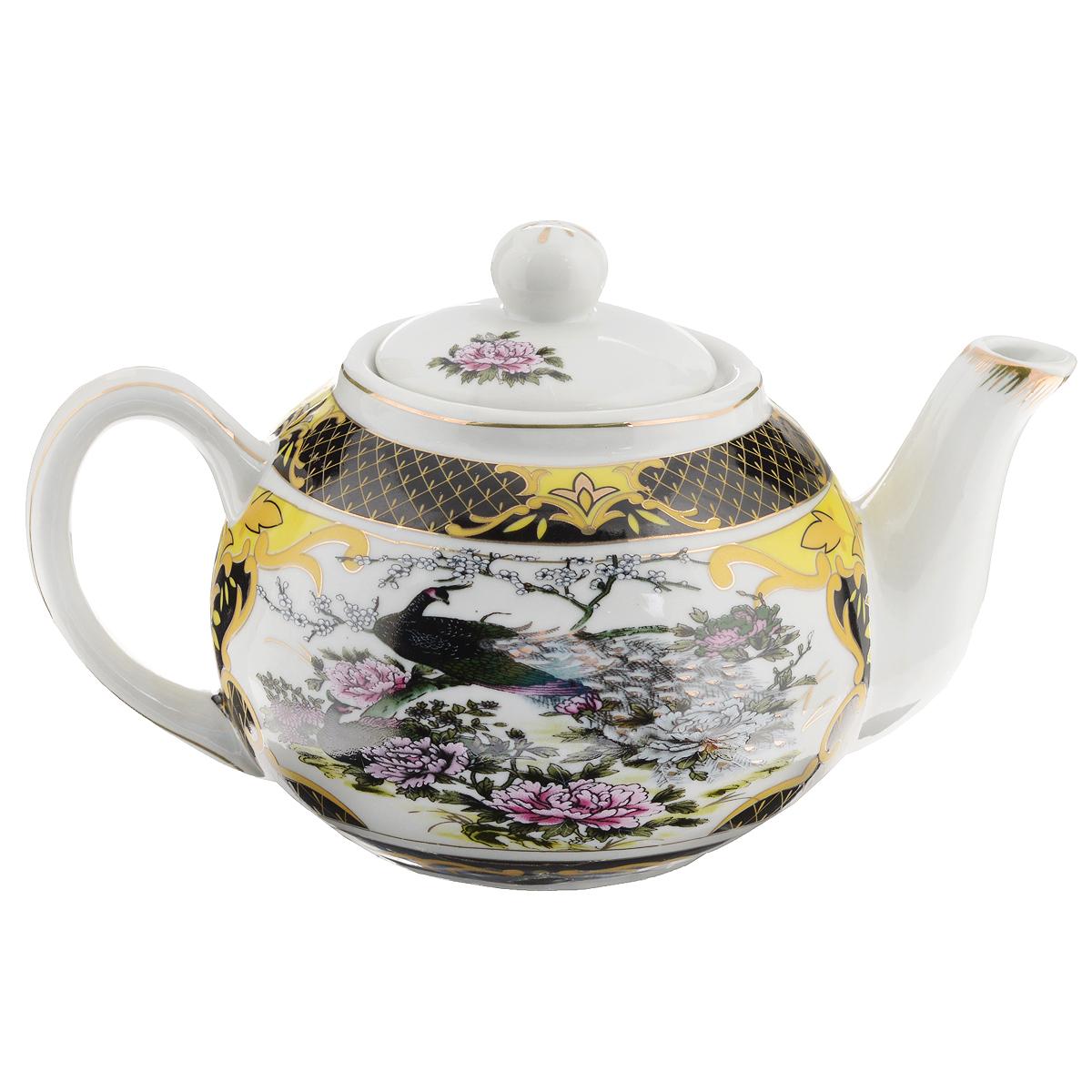 Чайник заварочный Briswild Сказочный павлин, 700 мл. 523-123523-123Чайник заварочный Briswild Сказочный павлин изготовлен из высококачественного фарфора. Чайник декорирован изображением павлинов и золотой каймой. Такой дизайн, несомненно, придется по вкусу и любителям классики, и тем кто ценит красоту и изящество. Чайник заварочный Briswild Сказочный павлин украсит ваш кухонный стол, а также станет замечательным подарком к любому празднику. Не использовать в микроволновой печи. Не применять абразивные чистящие вещества.Объем: 700 мл. Размеры чайника без крышки (ДхШхВ): 20 см х 11,5 см х 9 см.