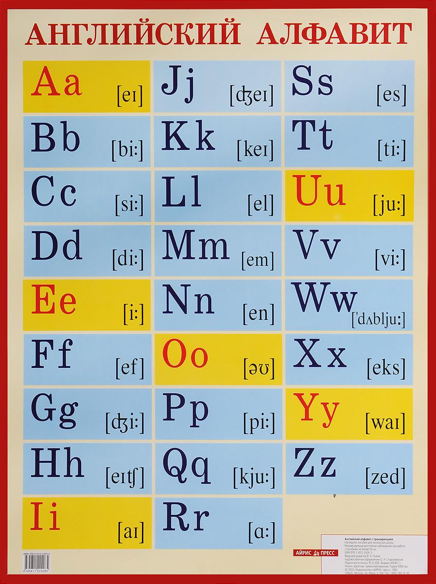 Английский алфавит с транскрипцией. Наглядное пособие для начальной школы