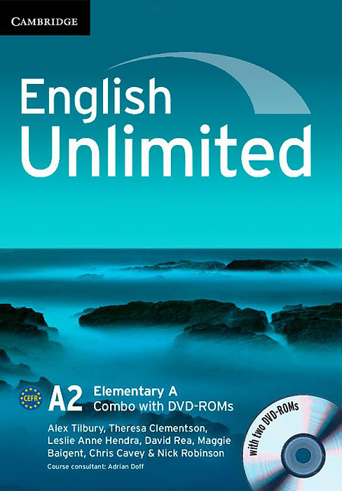 English Unlimited A2: Elementary A: Combo (+ 2 DVD-ROM) english unlimited elementary coursebook with e portfolio and online workbook pack dvd rom