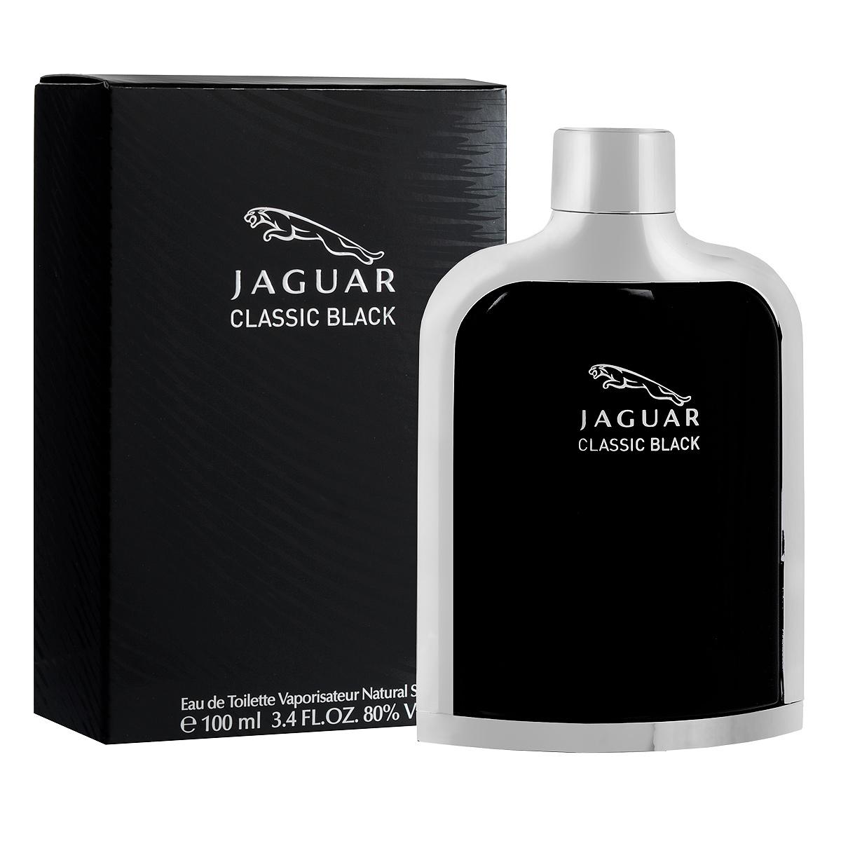 Jaguar Туалетная вода Classic Black, мужская, 100 млJ370314Туалетная вода Classic Black от Jaguar - изысканный роскошный аромат из коллекции Classic.Скорость и сдержанность, чувственность и сексуальность привлекают и интересуют настоящих мужчин, пользующихся успехом как у женщин, так и в кругу друзей, коллег и деловых партнеров.Классификация аромата: восточно-фужерный. Пирамида аромата: Верхние ноты: горький апельсин, мандарин, зеленое яблоко. Ноты сердца: герань, кардамон, чай, морская вода, мускатный орех. Ноты шлейфа:ветивер, сандаловое дерево, дубовый мох, кедр, тонка бобы, белый мускус. Ключевые слова Динамичный, экспрессивный!